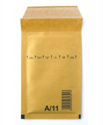 Плик 120х175, Sacboll кафяв с лента и възд.мехури - А/11