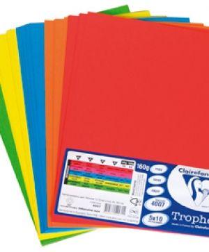 МИКС Trophee - интензивни цветове 5х10, А4, 160 г/м2
